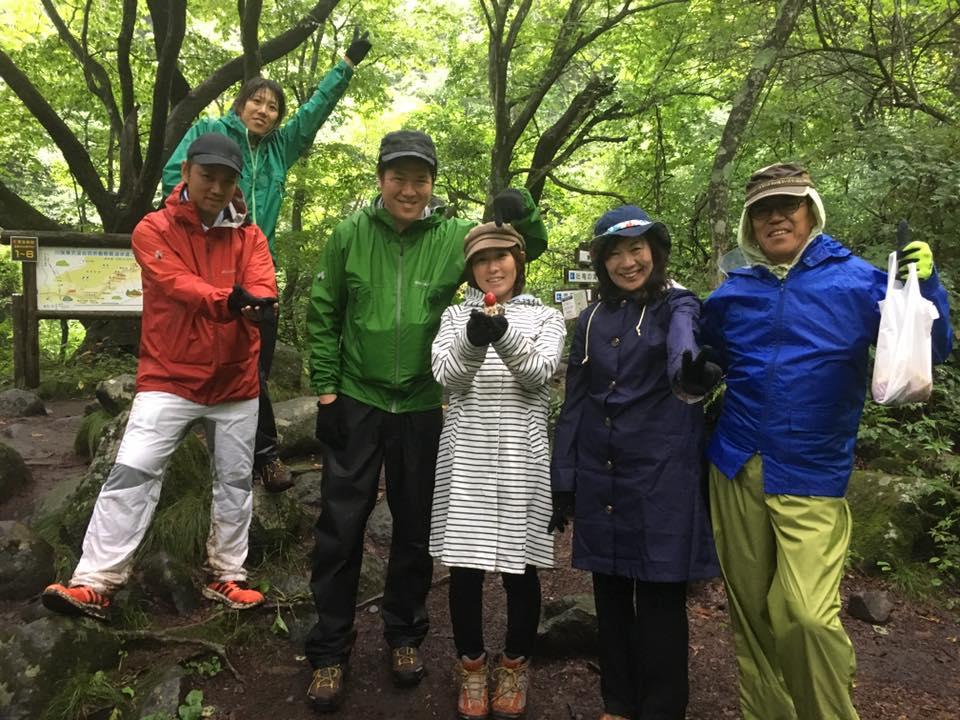 雨のサバイバルハイキング!