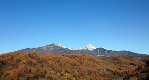 八ケ岳の雪化粧!