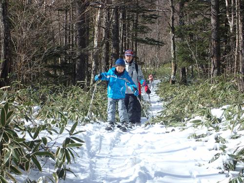 スキーシューなら楽しめます!