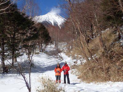 八ヶ岳ブルーのスノーシューツアー!