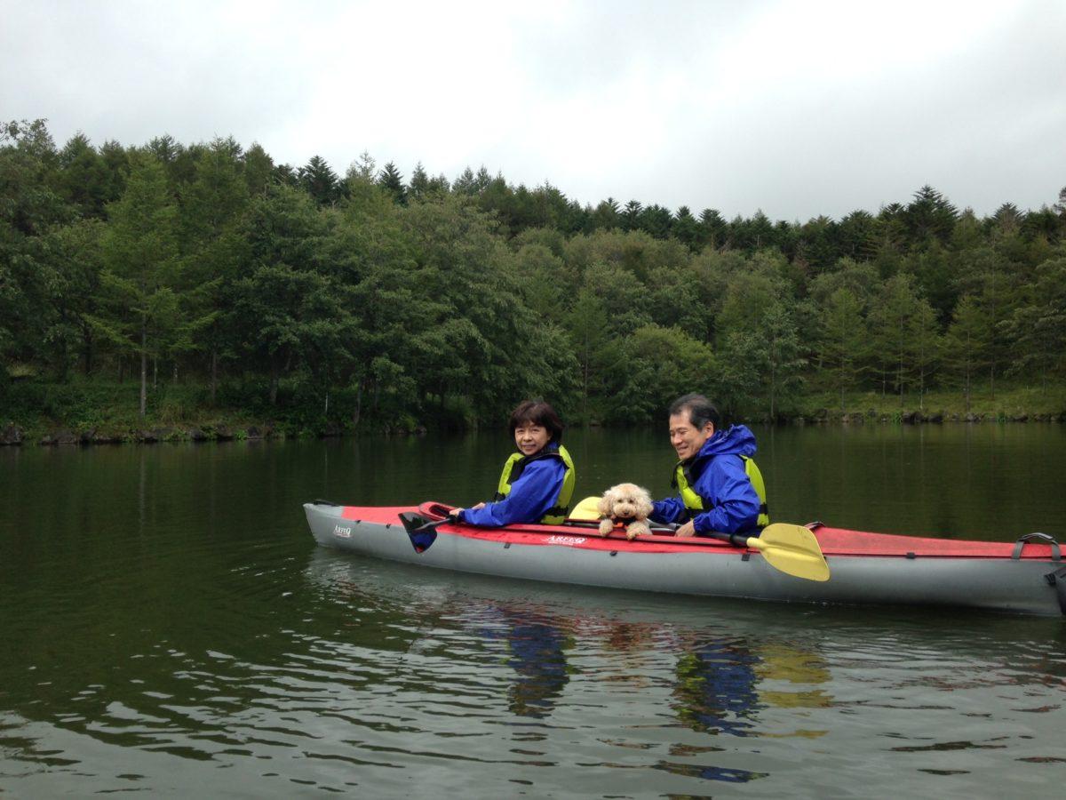 愛犬と水の上で〜高原のカヤック体験