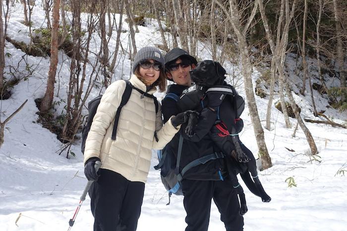 スノーシーズン最終日は快晴・柔雪の愛犬スノーシューでした!