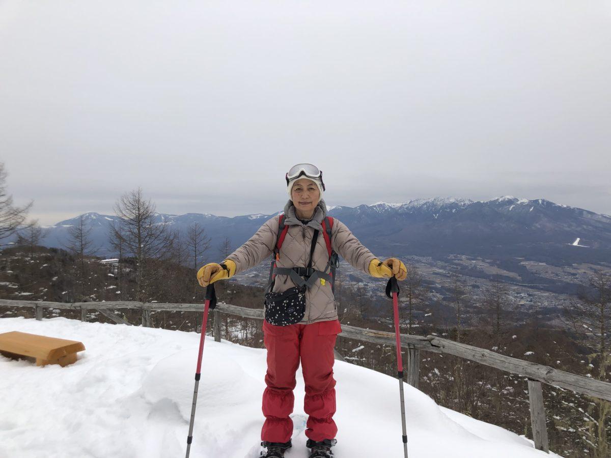 念願の入笠山スノーハイク!